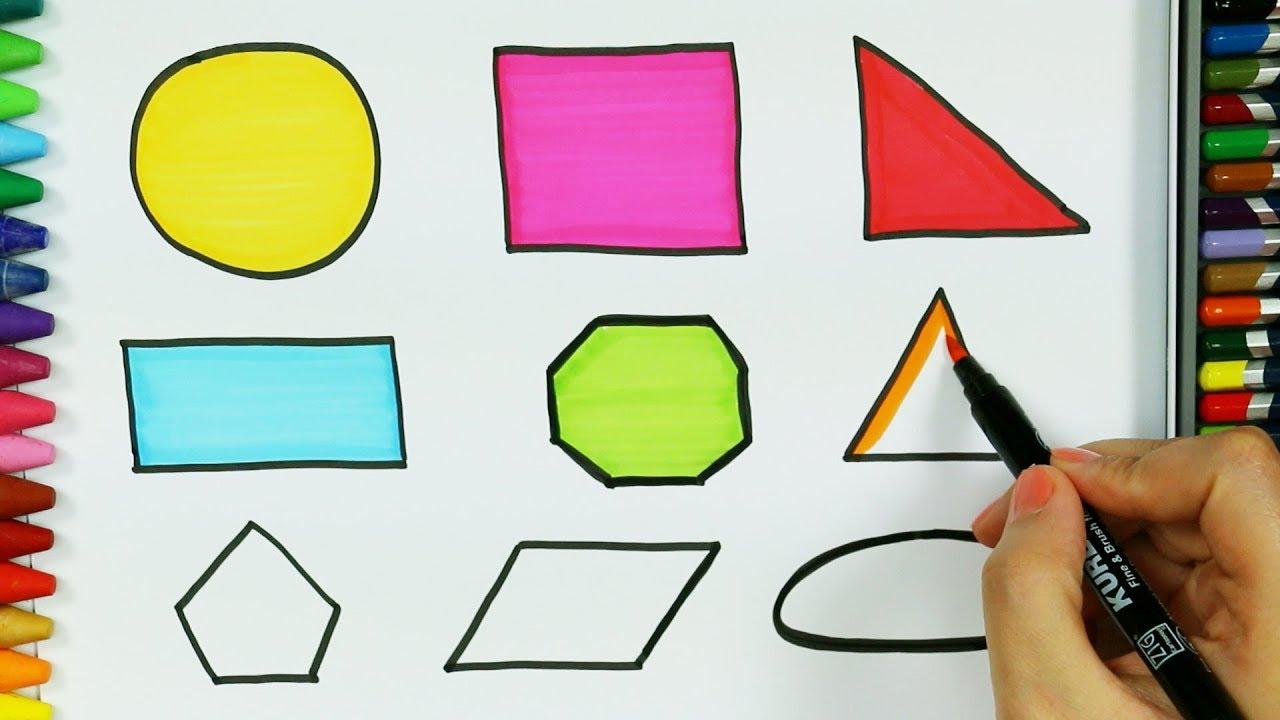 Dibujos para pintar y colorear 🔸 | Cómo dibujar formas | Colores ...