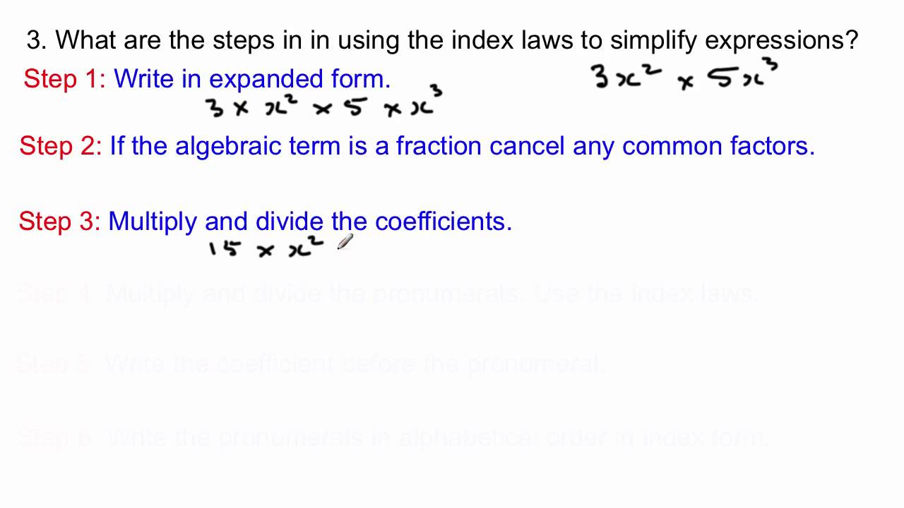 Algebra expanded form images standard form examples how to simplify algebraic expressions using the index laws youtube falaconquin falaconquin