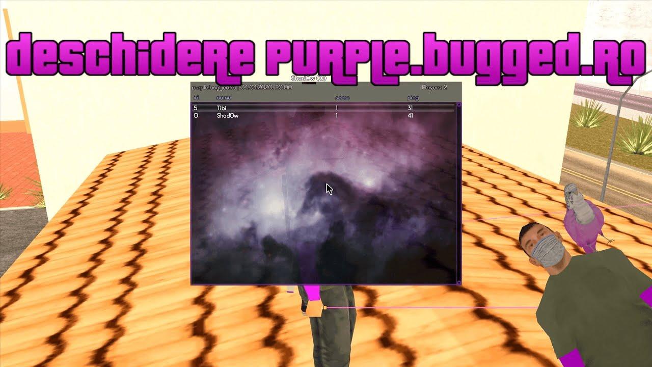 Deschidere PURPLE.BUGGED.RO 🟣 Modpack Purple