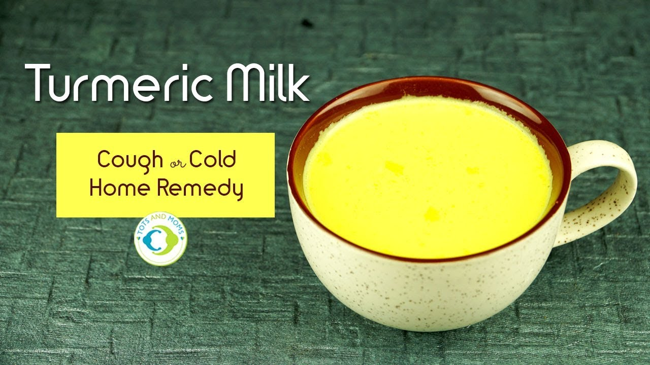 How to make Turmeric Milk | Cough & Cold Home Remedy for Kids & Adults |  Ayurvedic Treatment