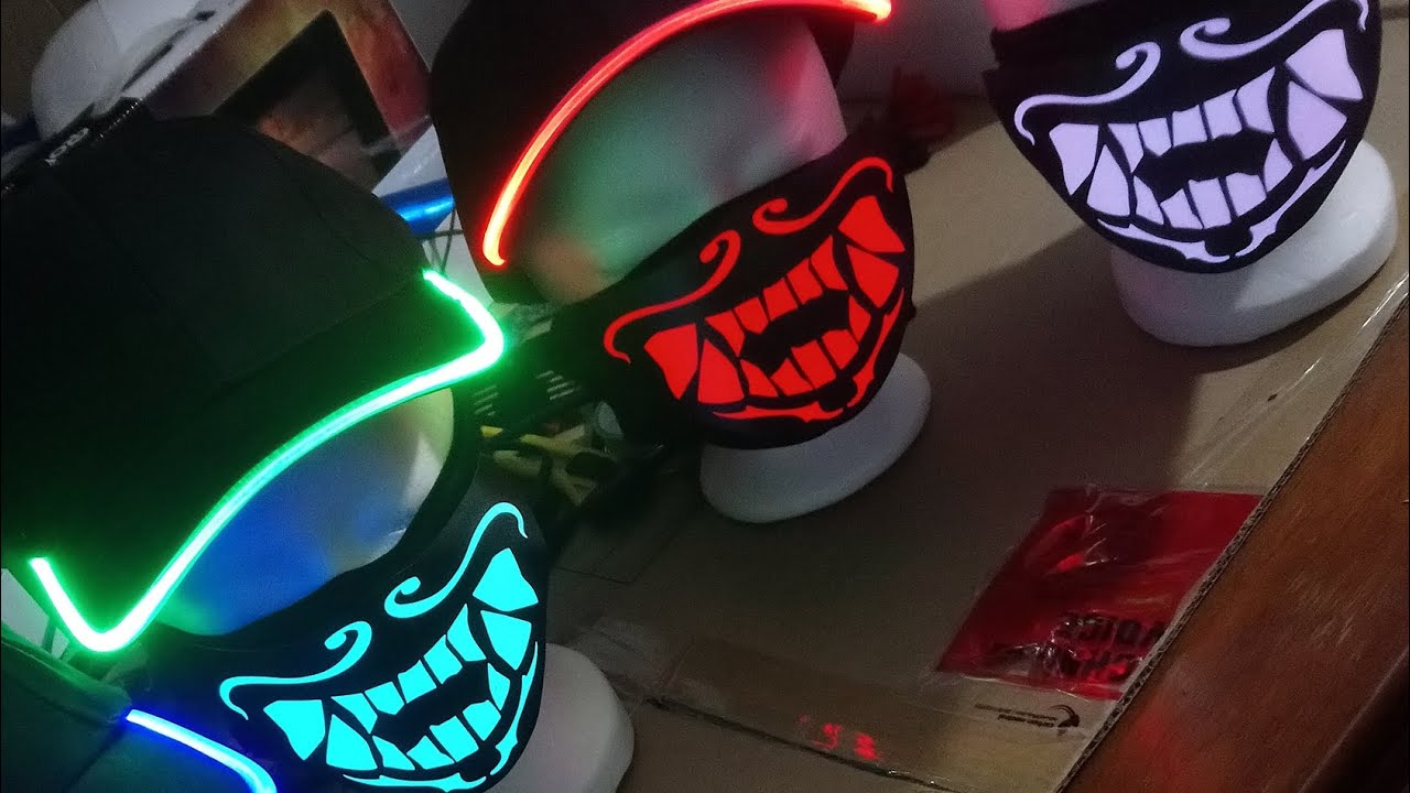 Real K Da Akali Light Up Masks Preview Sound Activation Test Inspired From Lol Youtube