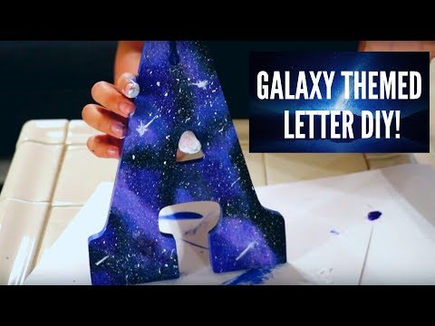 DIY galaxy themed letter