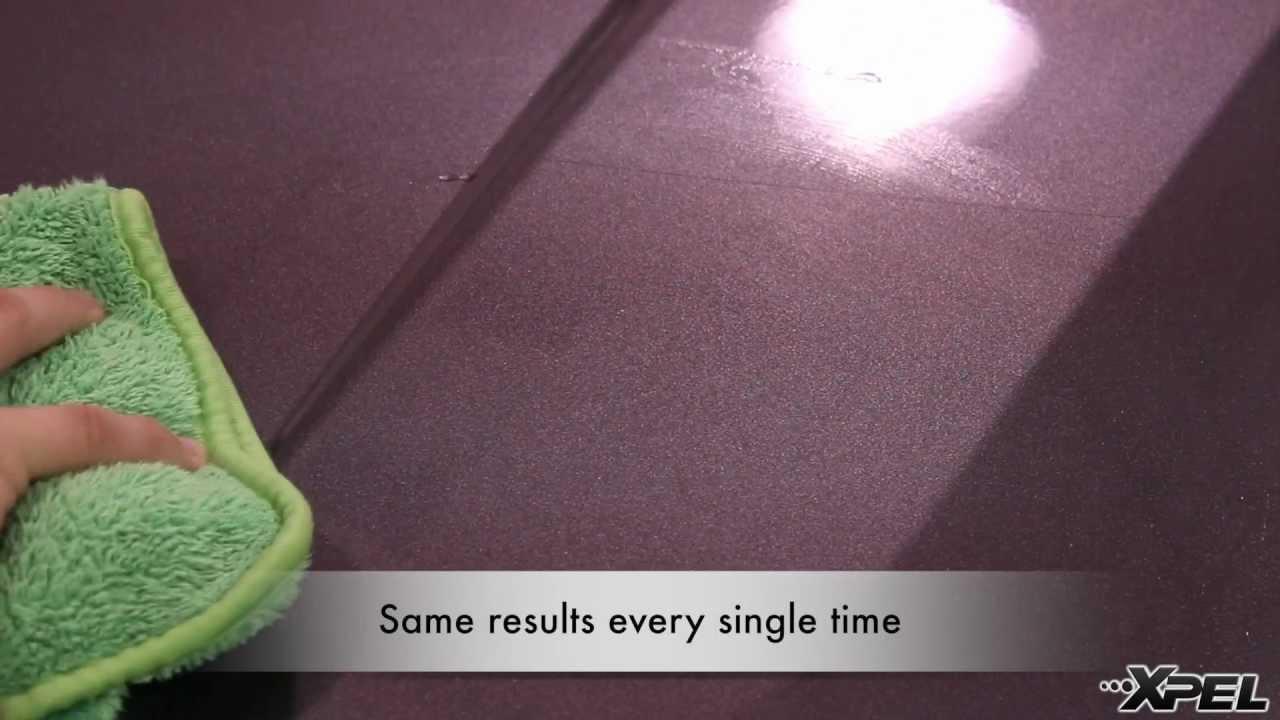 XPEL ULTIMATE Film Self-Healing Clear Bra Scratch Test Demo