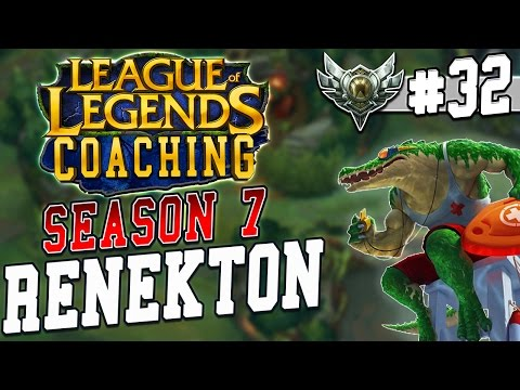 S7 LoL Coaching #32 - Renekton Top vs. Cho'Gath (Silver 2)