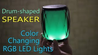 F&D W8 Bluetooth speaker - Drum-shaped speaker with Color Changing RGB LED Lights Rs. 2,490