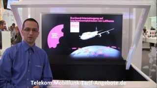 Telekom HotSpots - z.B. im ICE oder auch mit FlyNet auf ausgewählten Lufthansa Flügen