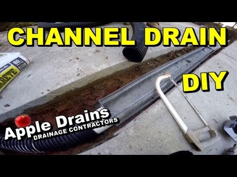 How To Install Nds 5 Trench Drain Channel Do It Yourself Le Drains Charlotte Nc