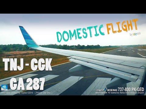 Garuda Indonesia Let's GO! B737 800 PK-GEO ✈ Soekarno Hatta from Tanjung Pinang Intl Airport