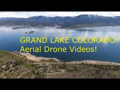 Grand Lake Colorado! Drone Aerial videos of Grand Lake! Granby Colorado! //Cheers Marie!