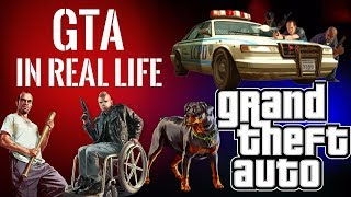 GTA in REAL LIFE | REAL LIFE CAR CHASES & SHOOTOUTS | SPONGEBOB MUSIC
