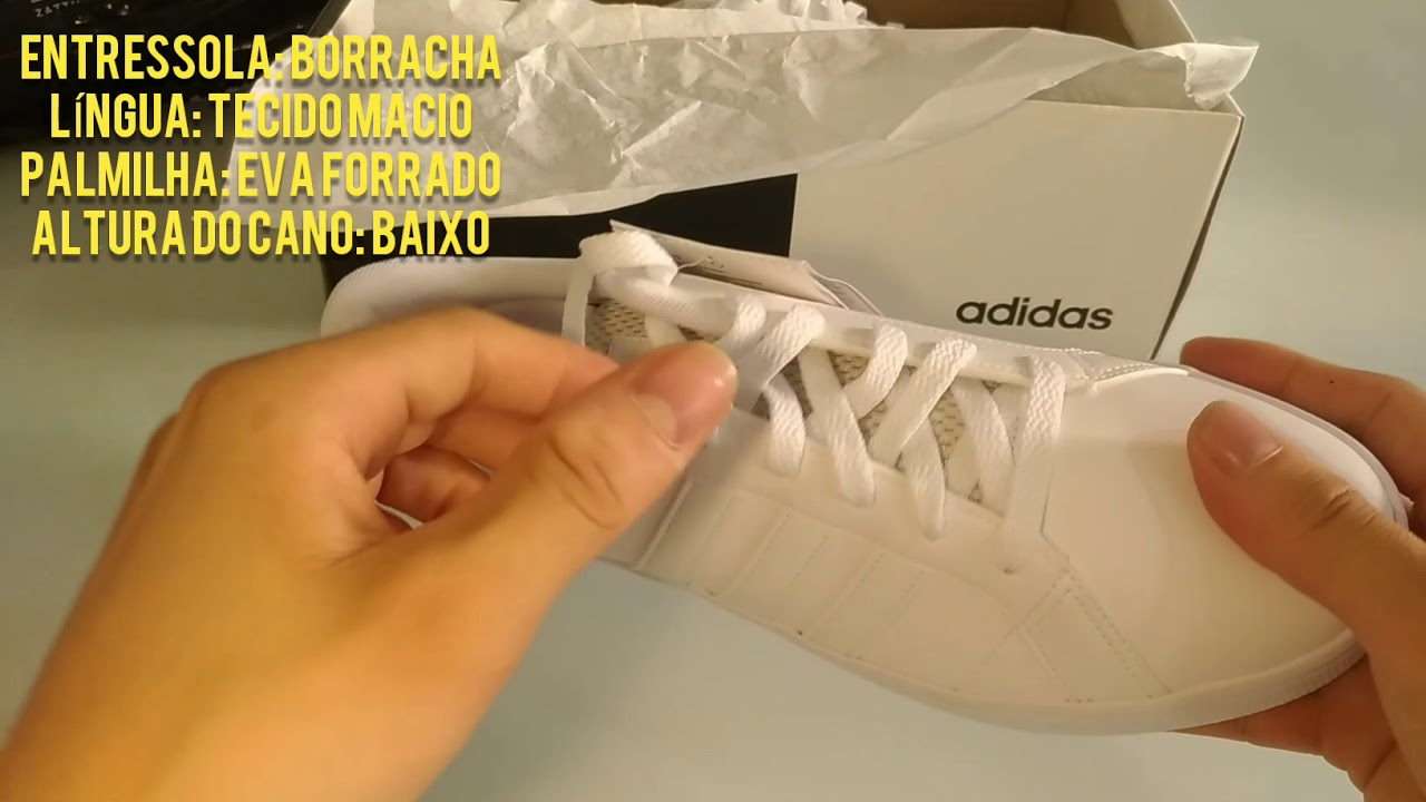 UMBOXING E REVIEW TÊNIS ADIDAS VS PACE MASCULINO NETSHOES