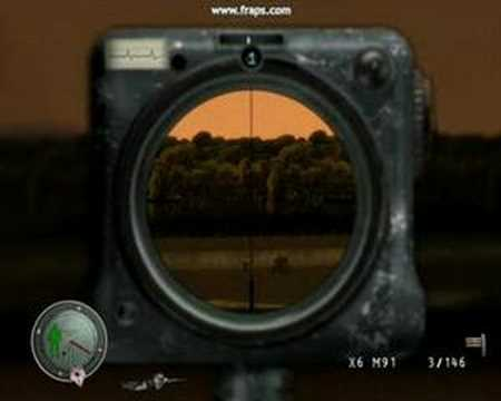 Ultimate long range head shot at Sniper Elite 1007m