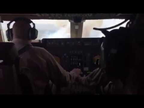 747 SuperTanker, video from inside cockpit