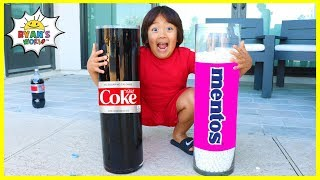 easy DIY Science Experiments Coca Cola and Mentos
