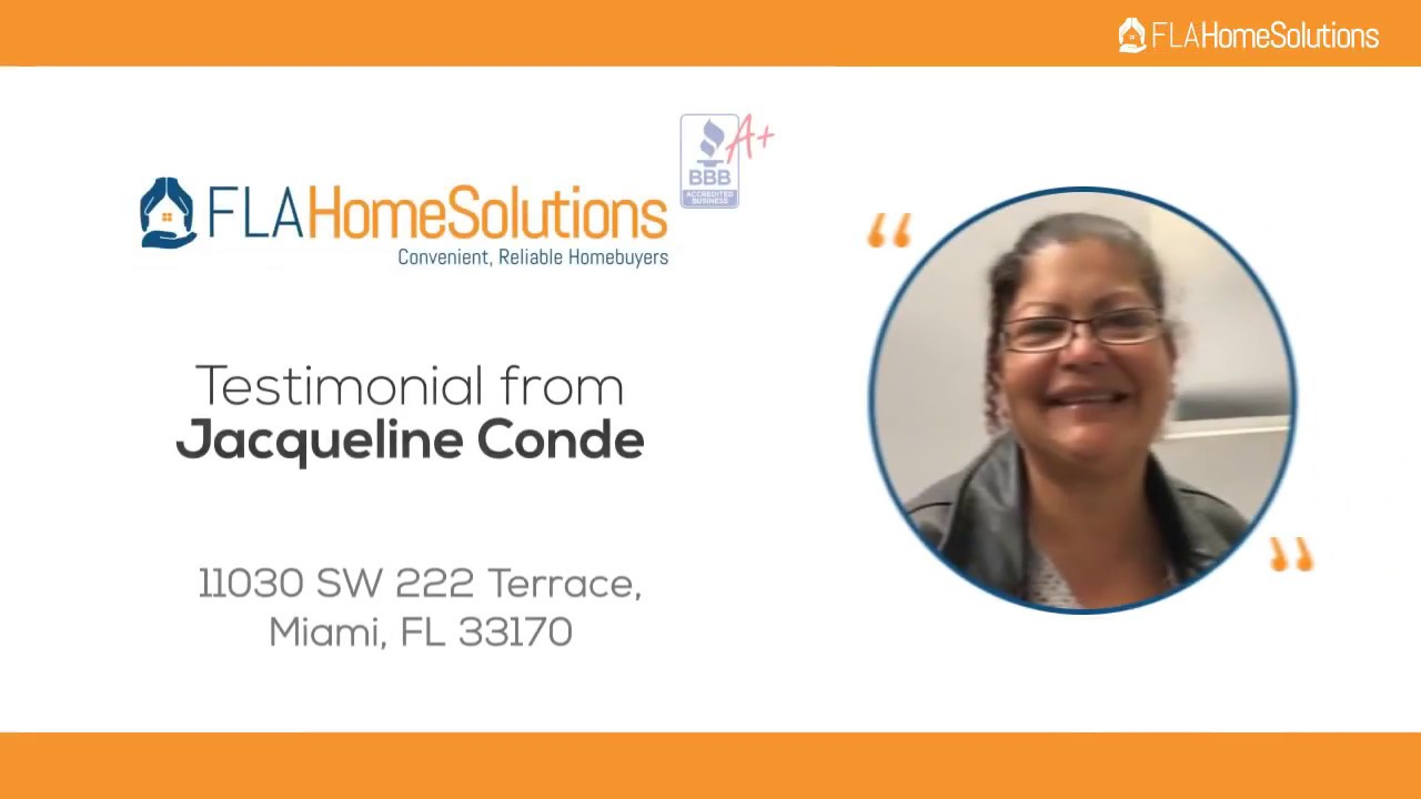Visit www.FLAHomeSolutions.com, Call 305-602-4105-Jacqueline's Testimonial for Creative RE-Solutions