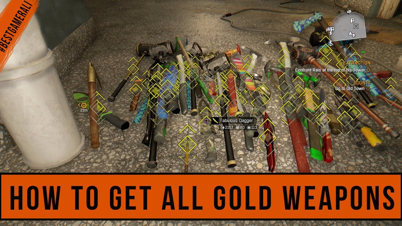 dying light golden weapons