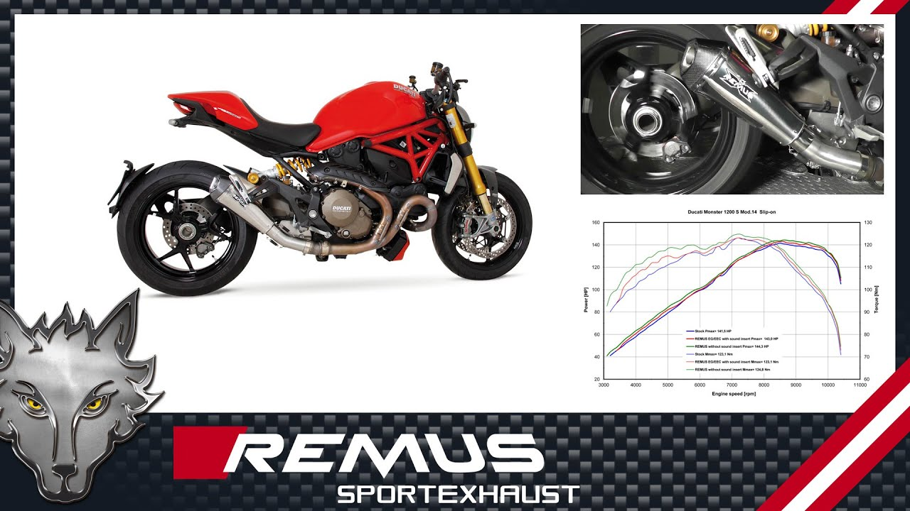 Ducati Monster 1200 S Mod 2014 With Remus Hypercone Sport