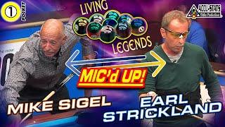 KILLER ONE POCKET: Mike SIGEL vs Earl STRICKLAND - 2017 LIVING LEGENDS EVENT
