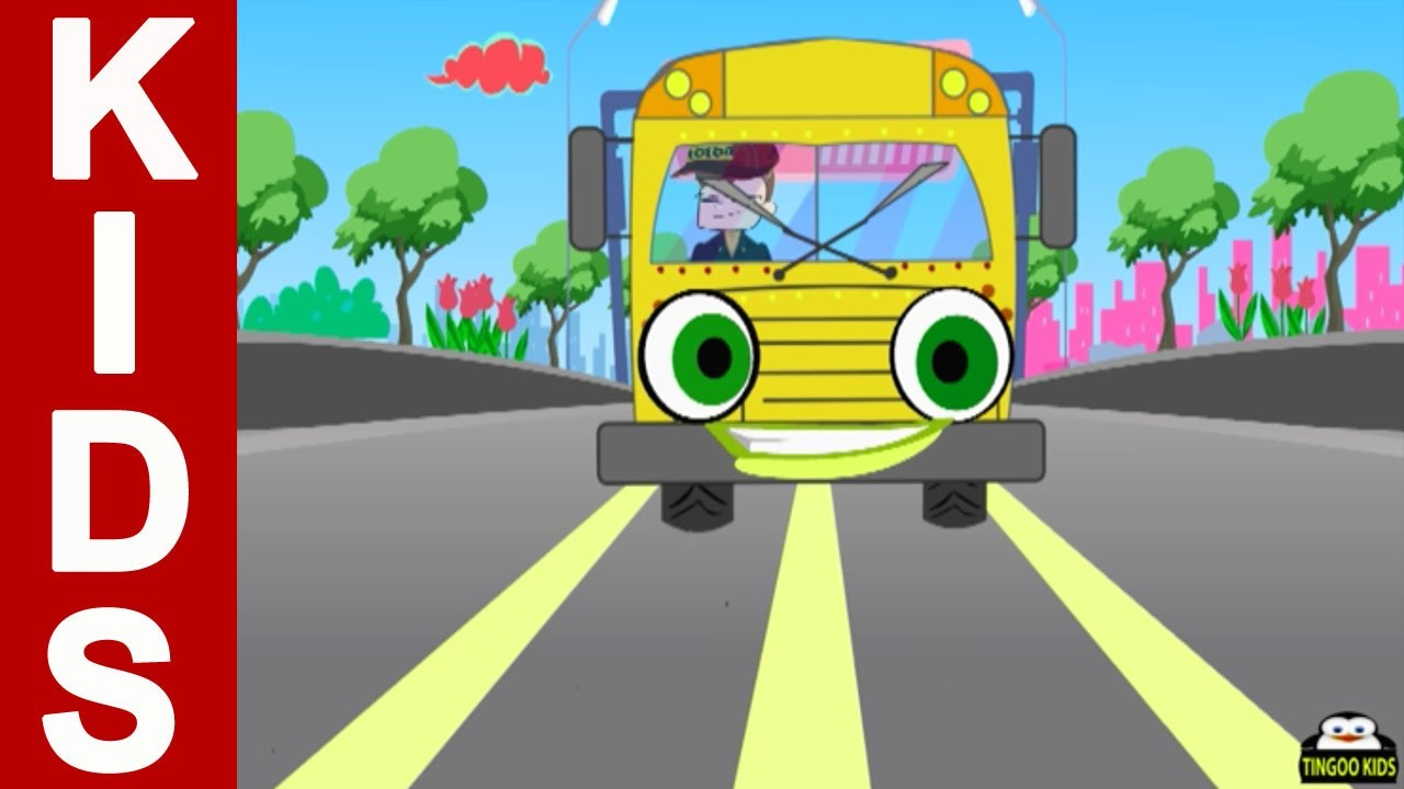 Wheels On The Bus Go Round And Round | Kids Songs & Nursery Rhymes With  Lyrics By TingooKids