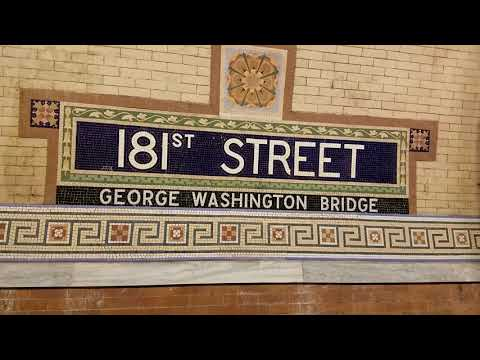 Renovated 181  Street R62a 1 Train Station (IRT Broadway–Seventh Avenue Line)