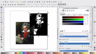 INKSCAPE: Jäljitä bittikartta (trace bitmap) ja yksi toiminnon sovellus
