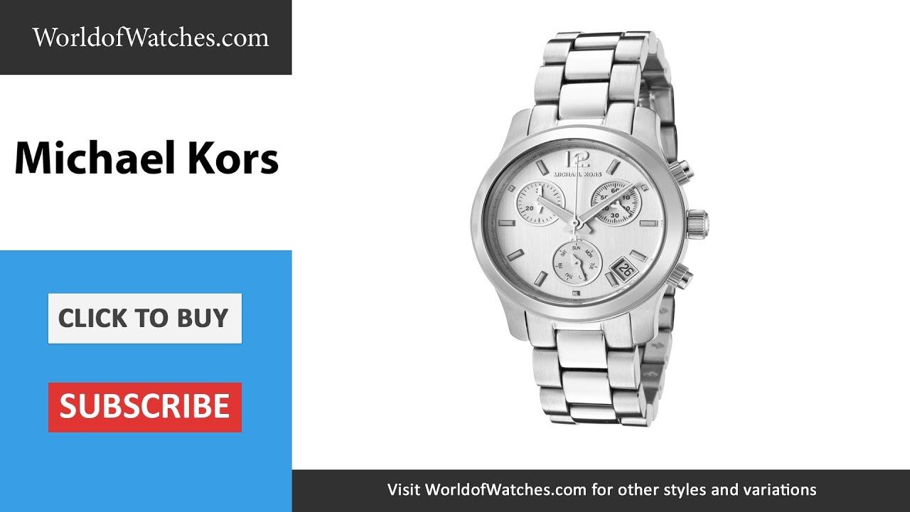 b65ca2707 Michael Kors Women's Chronograph Silver Dial Stainless Steel M.KORS-MK5428