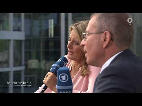 SPD Chef Martin Schulz im ARD Sommerinterview am 27. August 2017