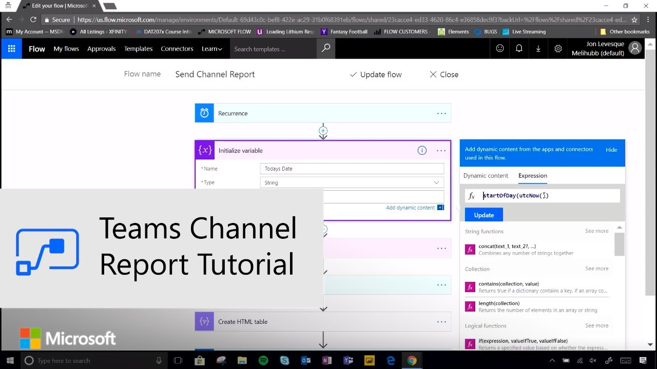 Flow With the Pros - Teams Channel Report Tutorial