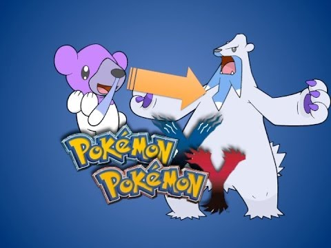 X and Y Shiny Cubchoo Evolves into Shiny Beartic! - YouTube
