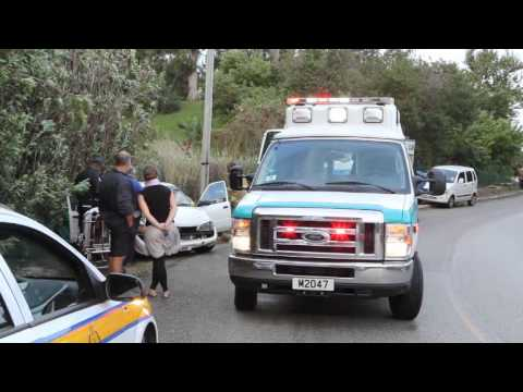 Car Accident St Davids Bermuda November 9 2011