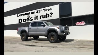 "Pair of Two Toyota Tacomas Leveled on 33"" Tires Fox Suspension"