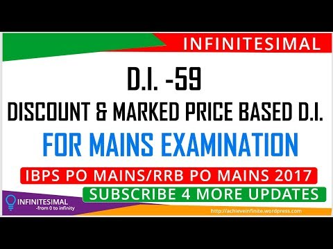 SBI PO MAINS DISCOUNT AND MP RELATED MISSING DI.(CALCULATIVE) |TARGET IBPS PO MAINS 2017