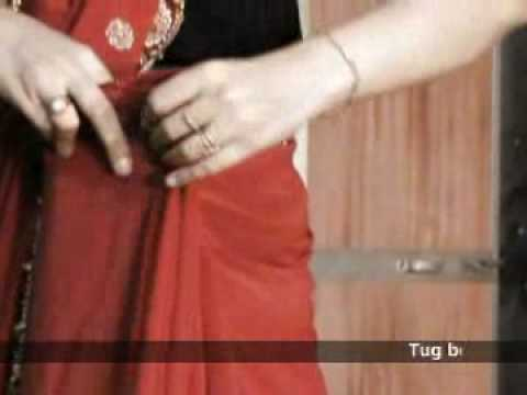 How to wear a sari The traditional drape