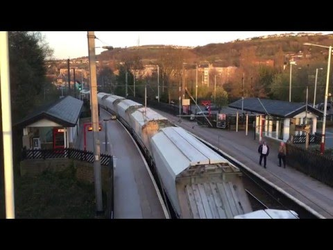 GBRf Class 66 Freight Train at Shipley Railway Station, West Yorkshire, England - 19th April, 2016