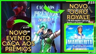 FREE FIRE, Novo Ouro Royale Confirmado, Novo Evento Caça ao Prêmios+Confira!!!