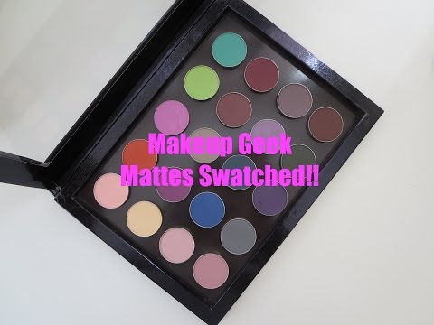 Makeup Geek Mattes Swatched!! thumbnail