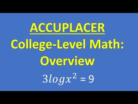 ACCUPLACER College-Level Math Overview thumbnail