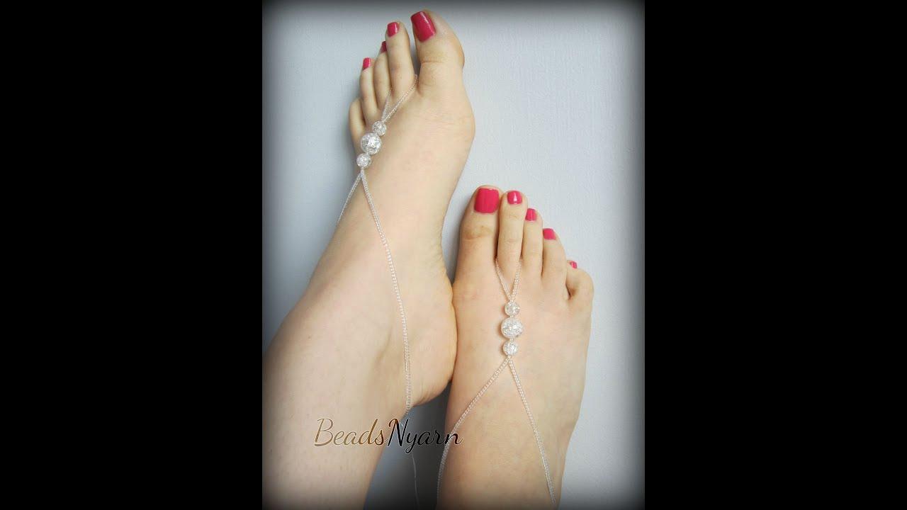 Beaded Barefoot Sandals Youtube