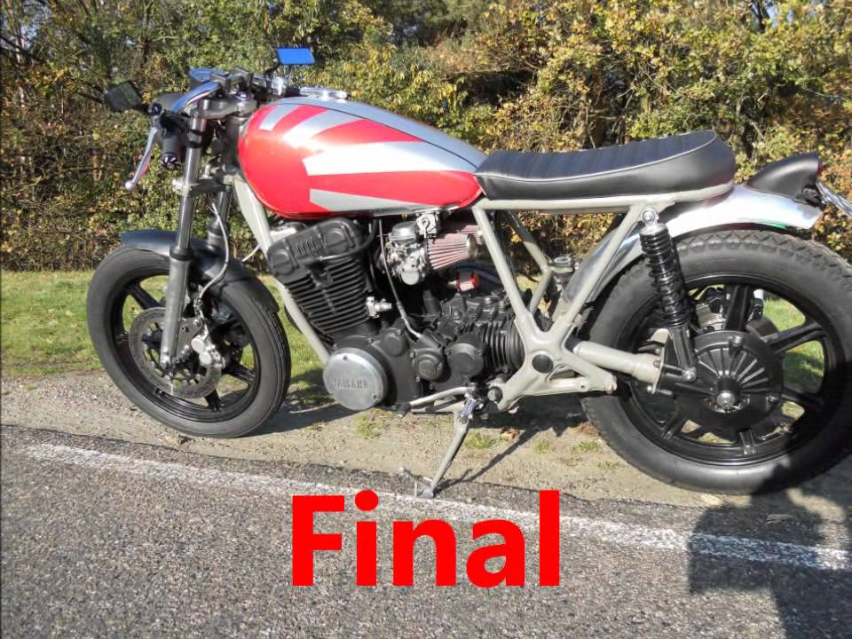 yamaha xs750 cafe racer - youtube