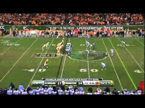 North Carolina D vs Tennessee O 2010 Music City Bowl