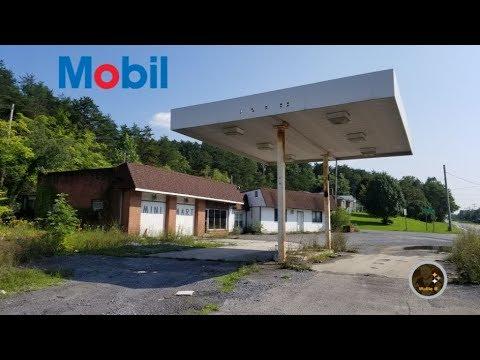 Abandoned Mobil Gas Station Berkeley Springs, WV
