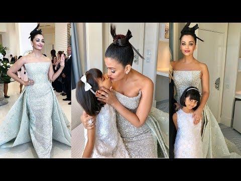 Wao ! Aishwarya Rai Bachchan looks dreamy with Aaradhya Bachchan at Cannes 2018 today