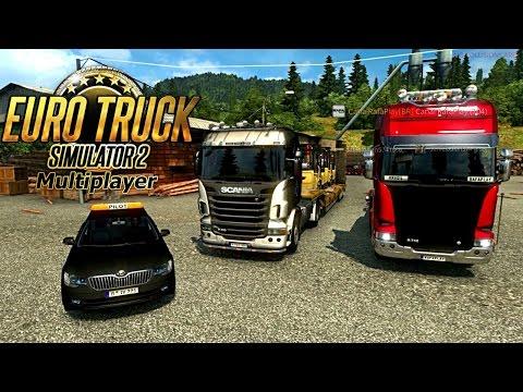 Euro Truck Simulator 2 Online | Transportando empilhadeiras Com Escolta Policial !!!