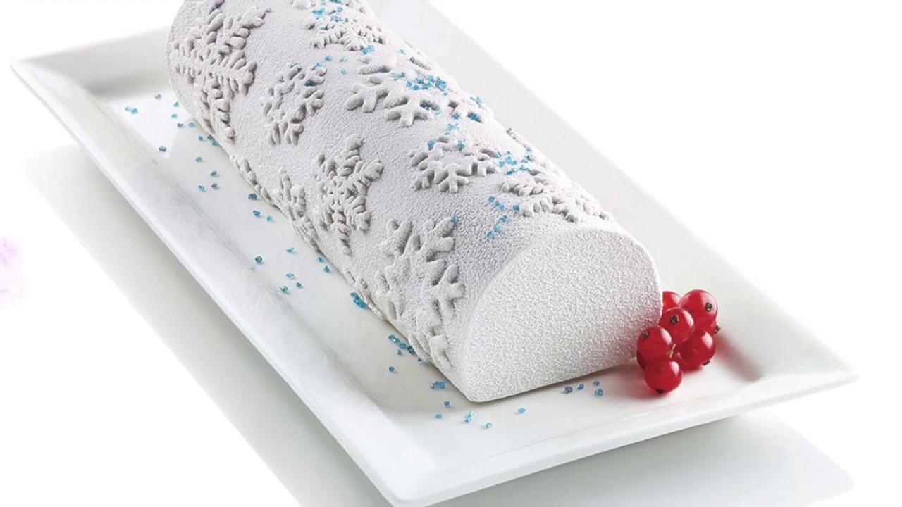 moule en silicone frozen buche 3d silikomart