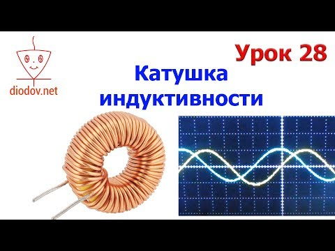 Урок 28.  КАТУШКА ИНДУКТИВНОСТИ в цепи переменного тока