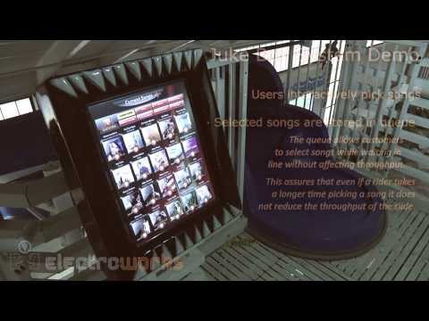 Shoreview MN Water Slide Jukebox with Sound and LED Lights