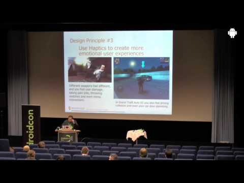 droidcon 2013: Incorporating touch feedback in your apps; Peter van der Linden, Immersion
