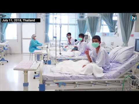 Thai cave rescue: First visuals of boys smiling at hospital will melt your heart