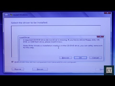 Windows 7 Fixes: A Required CD-DVD Driver Is Missing (USB Windows 7 Installation Error)
