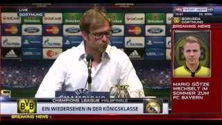 Pressekonferenz Borussia Dortmund CL Real Madrid - Mario Götze Wechsel - Jürgen Klopp